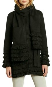 Laundry by Shelli Segal Fringe Fringe Hem Coat