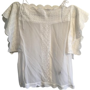 Isabel Marant Embroidered Top White
