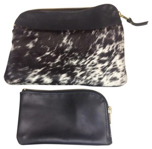 Chelli Harms Collection Black White Clutch