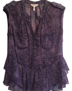 Rebecca Taylor Silk Top Purple Multi