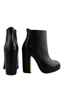 Rag & Co Leather Boot Bootie Black Boots