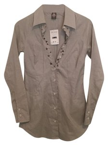Free People Studded Button Down Shirt