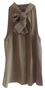 BCBGMAXAZRIA Sleek Silk Top Mocha brown