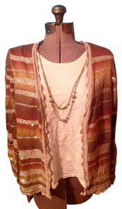 Alfred Dunner Petite Xl Necklace Cardigan Sweater