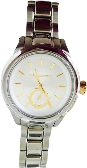 Preload https://item3.tradesy.com/images/karl-lagerfeld-silver-with-gold-accents-watch-1951297-0-0.jpg?width=440&height=440