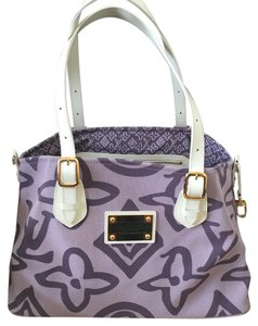 Louis Vuitton Tote in White/ Purple
