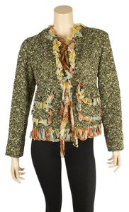 Dolce&Gabbana Wool Blend Ruffle Multi-Color Blazer