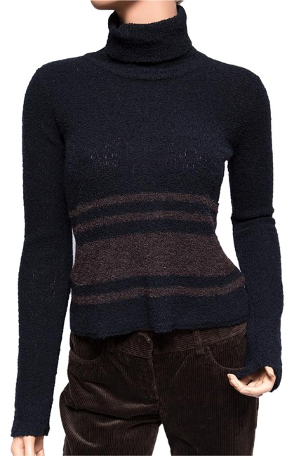 Preload https://img-static.tradesy.com/item/19513140/dkny-multi-color-wool-striped-wool-turtle-neck-sweaterpullover-size-petite-2-xs-0-1-650-650.jpg