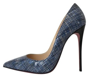 Christian Louboutin Navy Black So Kate Check Pigalle Follies Blue Pumps