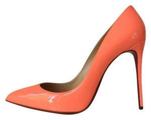 Christian Louboutin Pigalle Follies Peach Coral Pumps