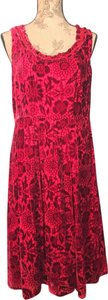 The Territory Ahead Floral Velvet Holiday Dress