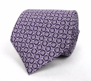 Gucci Men's Lavender Silk Neck Tie With Monogram Horsebit 336249 5370