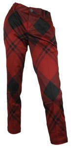 Gucci Checkprint Holiday Capris Red/Black