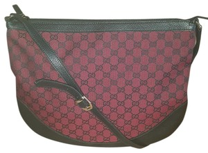 Gucci Black and Red Messenger Bag