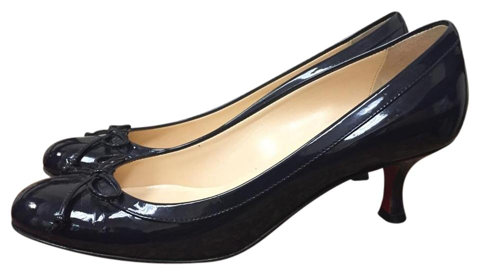 Christian Navy Louboutin Navy Christian Blue Patent Leather Pumps 24c213