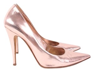Sergio Rossi Leather Rose Gold Heels Pumps