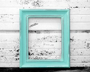 Distressed Photo Frames 4 - 4x6 (aqua)