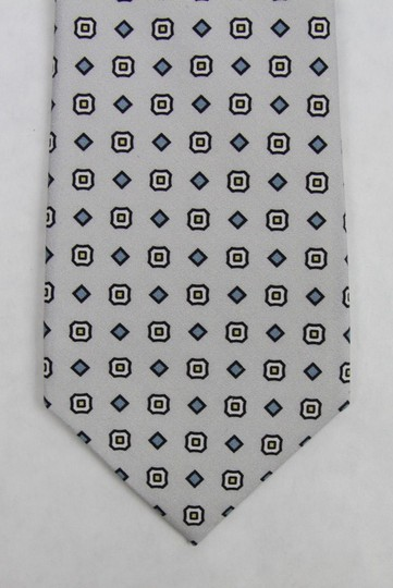 Gucci Multi-color Men's Off-white Gray Print Habutai Silk 368200 9562 Tie/Bowtie Image 2