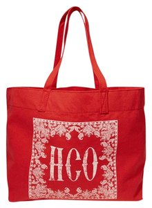 Hollister Handbag Beach Book Tote in Red