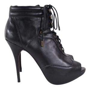 Steven by Steve Madden Leather Peep Toe Boots