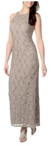 R & M Richards Lace Sequin Halter Dress
