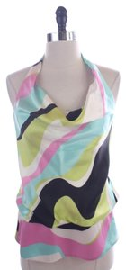 Laundry by Shelli Segal Silk Swirl Halter Size Xs Top Multi-Color