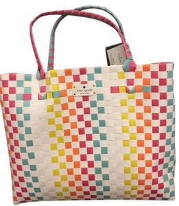 Kate Spade Women's Tote Summer Beach Multi Color Beach Bag