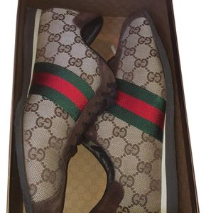 Gucci Brown, green, and red Athletic