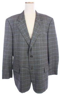 Valentino Blue Boundstooth Wool Black Blazer