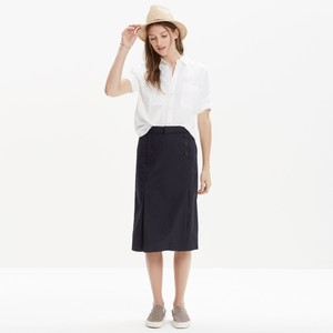Madewell A Line 26 Inches Long Skirt Dark Navy