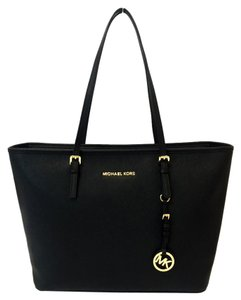 Michael Kors Jet Set Top Zip Travel Tote in Black
