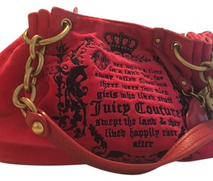 Juicy Couture Handbag Velvet Juicy Satchel in Pink