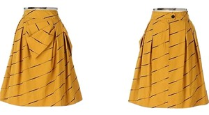 Anthropologie Skirt Mustard