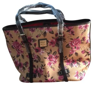 Dooney & Bourke Tote in Beige & Rose