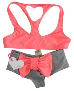 Lolli Swim Bow Bottom And Heart Top