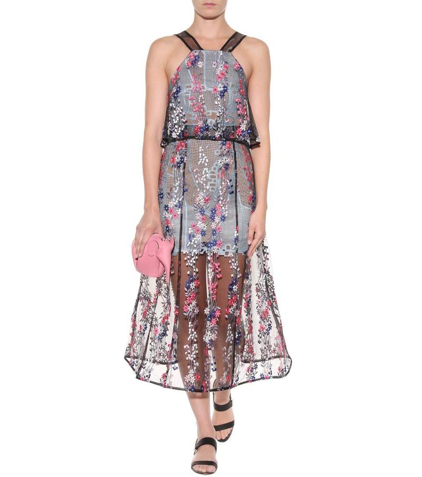 c6db886a2e2f self-portrait Floral Vine Embroidery Mid-length Cocktail Dress Size 2 (XS)  - Tradesy