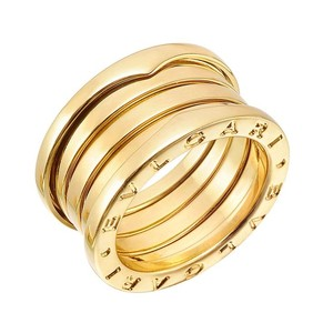 BVLGARI Bulgari 18K Yellow Gold B Zero1 Four Band Ring EU 51