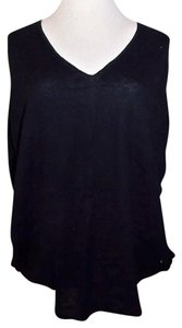 Moda International Cocoon Vest Victoria's Secret Cotton Cashmere Size Small Top Black