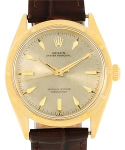 Rolex Rolex Oyster Perpetual 18K Yellow Gold Vintage Chronometer Watch 6569