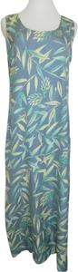 Blue, Multi-Colors Maxi Dress by Tommy Bahama Size Small Silk