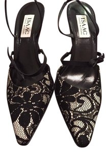 Isaac Mizrahi Black White Lace Slingback Multi-Color Pumps