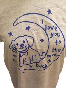 Gildan Womens Dog Lover T Shirt Light Gray