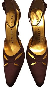 Walter Steiger Satin Brown Pumps