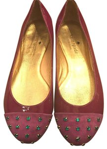 Kate Spade Patent Leather Ballet Wturquoise Rhinestones 5m Pink Flats