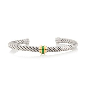 David Yurman Classics 5mm Single Station Bracelet with Emerald