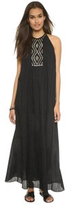 Black with gold detail Maxi Dress by St. Roche