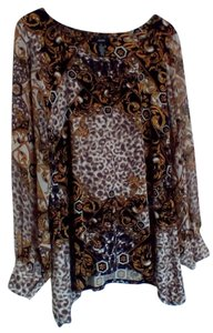Alfani Top Multi brown and black