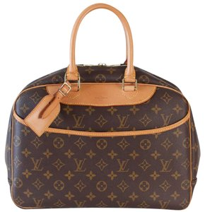 Louis Vuitton Deauville Cosmetic Diaper Toiletry Travel Brown Travel Bag