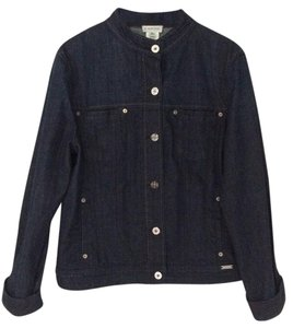 St. John Dark Indigo Blue Womens Jean Jacket