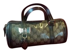 Gucci Monogram Small Satchel in Brown